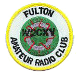 Fulton Amateur Radio Club logo embroidered on a patch